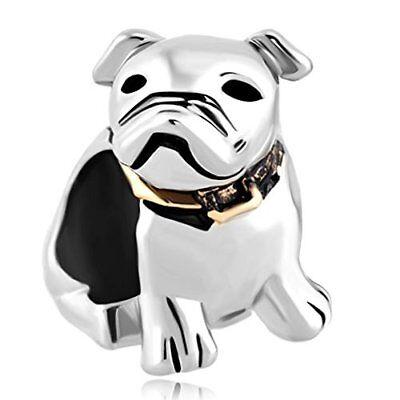 - Dog Pet Germany Bulldog Animal Charms Jewelry Bead Pandora Charm Bracelet