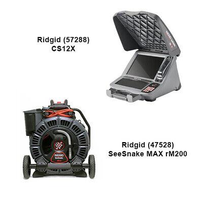 Ridgid Seesnake Max Reel 47528 D2b Reel Cs12 Monitor 57288