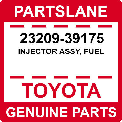 23209-39175 Toyota Oem Genuine Injector Assy, Fuel