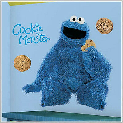 Sesame Street COOKIE MONSTER wall stickers MURAL 34 inches tall decal room decor ()