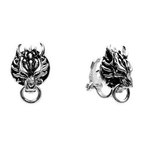 Final Fantasy VII 7 Cloud Wolf 1 Pair of Clip-ons Earrings Cosplay Pendant Game