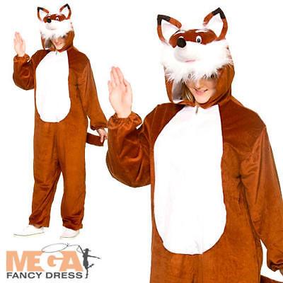 Deluxe Fantastic Fox Adults Fancy Dress Animal Book Day Week Mens Ladies - Fantastic Halloween Costumes