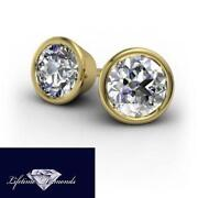 Bezel Diamond Earrings