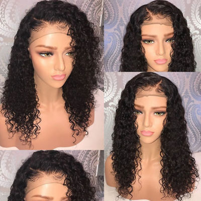 Virgin Human Hair Lace Frontal  Wigs Full Lace Wigs Curly Baby Hair Wigs (Baby Wigs)