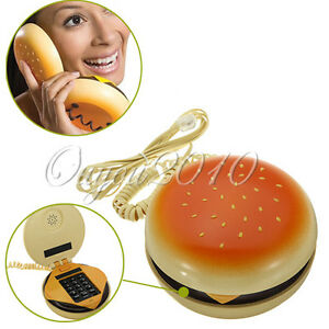 Hamburger-Cheeseburger-Cheese-Burger-Styled-Corded-Home-Phone-Telephone-as-Juno