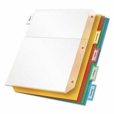 Ring Binder Divider Pockets With Index Tabs 5 Dividers Crd84009