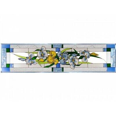 Iris Window (Iris Flowers Art Glass Window Panel Suncatcher 10 1/4