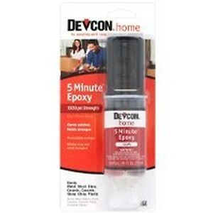NEW DEVCON S208 FRESH 2 PART 5 MINUTE CLEAR  EPOXY GLUE WATERPROOF ADHESIVE