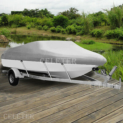 17' 18' 19' Heavy Duty Waterproof Trailerable Boat Cover UV / Dust Resist ZBT2G