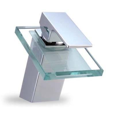 Diseño Cristal Grifería Cascada Grifo Agua Monomando Cuarto de Baño