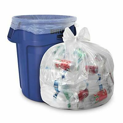 """100 Pack-33 Gallon Clear Trash Bags Huge 33"""" x 39"""" 1.5 MIL Equivalent CSR Series"""