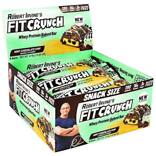 Robert Irvine's FIT CRUNCH Whey Protein Baked Bar MINT CHOCO