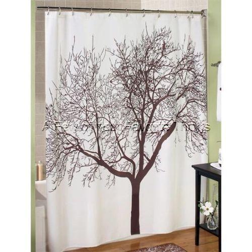Brown Tree Shower Curtain Ebay
