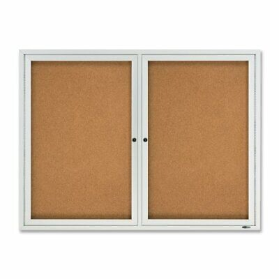 Quartet Outdoor Bulletin Board - 48 Height X 36 Width - Cork Surface -