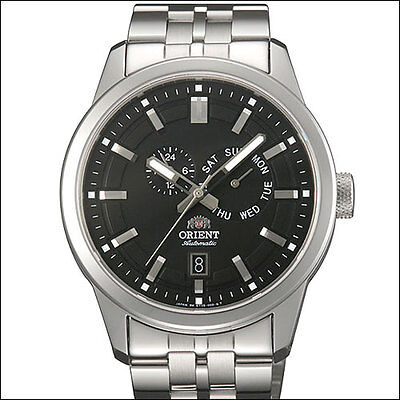 Orient Black Trooper Automatic Watch with Sapphire Crystal, Bracelet #ET0S001B