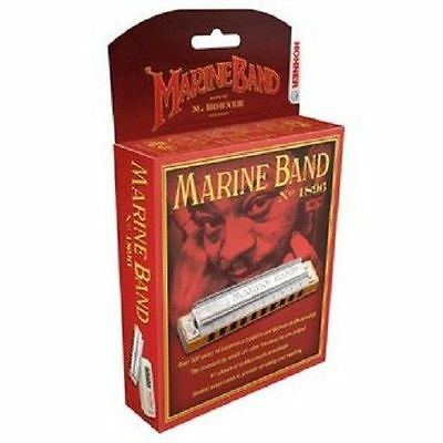 HOHNER MARINE BAND 1896/20 HARMONICA E HARP  FACTORY SEALED NEW WITH CASE on Rummage