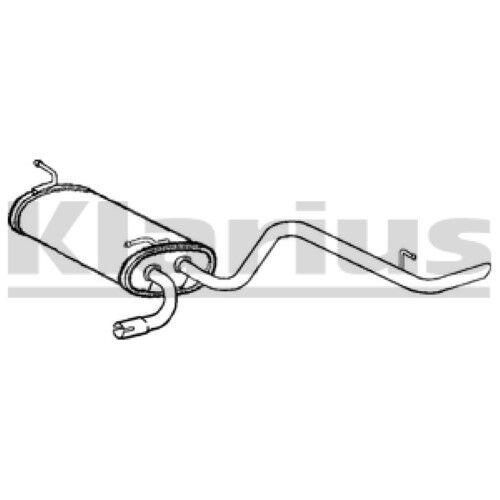 1x KLARIUS OE Quality Replacement Rear / End Silencer Exhaust For DAEWOO Petrol