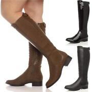 Ladies Wide Calf Boots Size 8