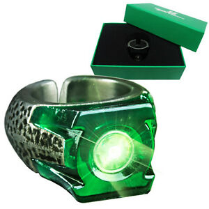 Green Lantern Light Up Power Prop Replica Ring - Official DC Comics Jewellery