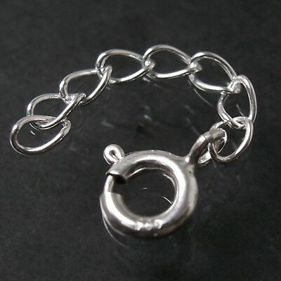 Verlängerungskette 925 Silber 3cm Kette Verlängerung Armband Federring 1643030