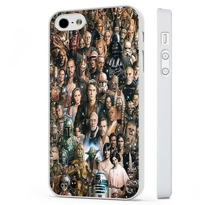 Star Wars Incredible Collage Characters WHITE PHONE CASE COVER fits iPHONE