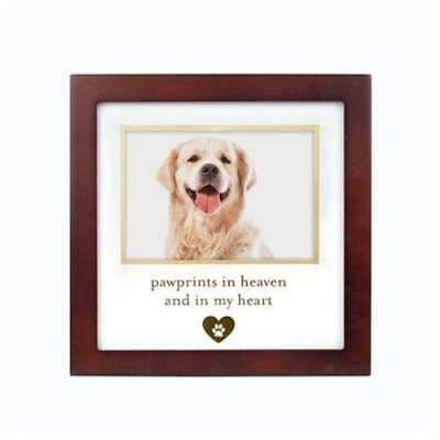 Pawprints In Heaven, and in My Heart Pet Cat Dog Memorial Picture Frame Espresso