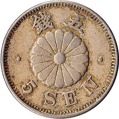 1891 (Yr. 24) Japan 5 Sen Coin Mutsuhito (Meiji) Y#19