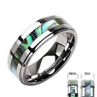Abalone Tungsten Jewelry for Men