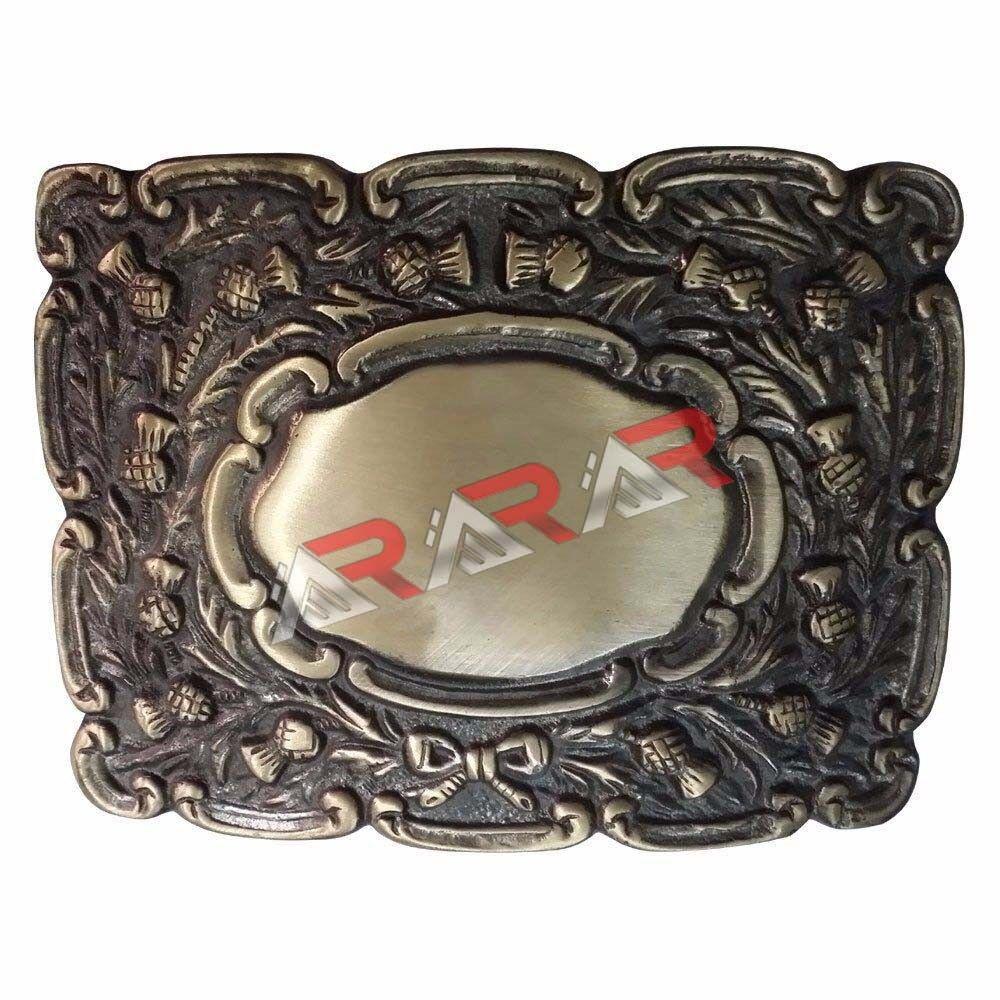Men's Thistle Matt Kilt Belt Buckle Antique Finish//Kilt Belt Buckle Thistle