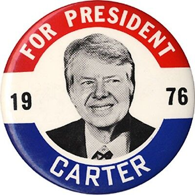 Large 1976 Jimmy Carter FOR PRESIDENT Classic Campaign Button (4062)