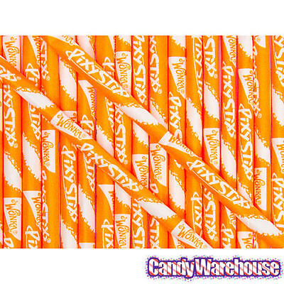 100 ORANGE WONKA PIXY STIX SUGAR STRAWS CANDY PARTY FAVORS GOODY BAGS