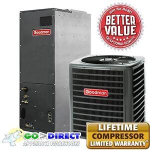 Goodman 5 Ton 16 Seer 2 Stage Heat Pump Split System DSZC160601 AVPTC60D14