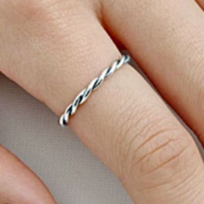 Band Thumb Ring Ring (.925 Sterling Silver Ring Midi Band Ladies size 3-10 Knuckle Thumb Kids New )