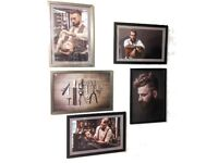 Barbershop designs to put around the Barber Chair (set of 5)