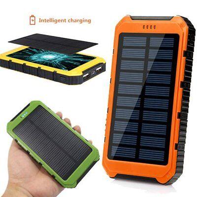 Portable Solar Power Panel (Waterproof 300000mAh Portable Solar Panel Charger Dual USB Battery Power Bank A)