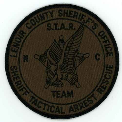 LENOIR COUNTY SHERIFF NORTH CAROLINA NC TACTICAL ARREST RESCUE SUBDUED PATCH