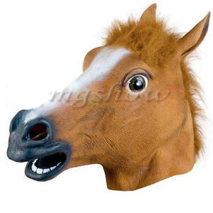 Rubber-Horse-Head-Mask-Panto-Fancy-Dress-Party-Cosplay-Halloween-Adult-Costume