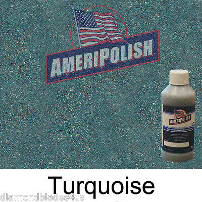 1 Gl. Turquoise Concrete Color Dye 4 Cement Stain Ameripolish Solvent Based