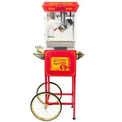 FunTime FT862CR Sideshow Popper Hot Oil Popcorn Machine with