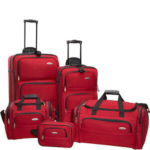 Samsonite 5-Piece set Travel Luggage suitcase rolling wheeled tote bag