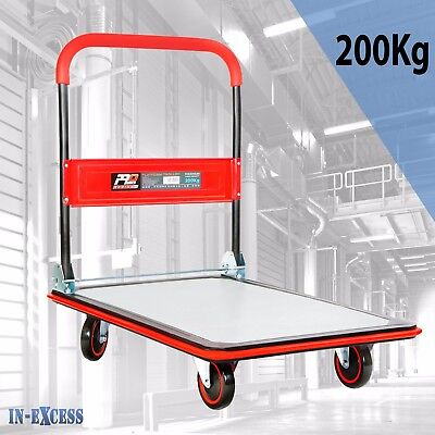 Promech Folding Platform Trolley Sack Trucks 200kg Capacity with Silent Wheels