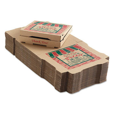 ARVCO Corrugated Pizza Boxes 12w x 12d x 1 3/4h Kraft 9124314