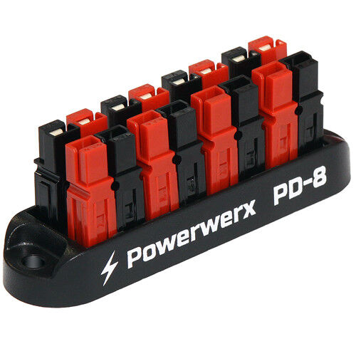 8 Position Power Distribution Block for 15/30/45A Powerpole Connectors PD-8