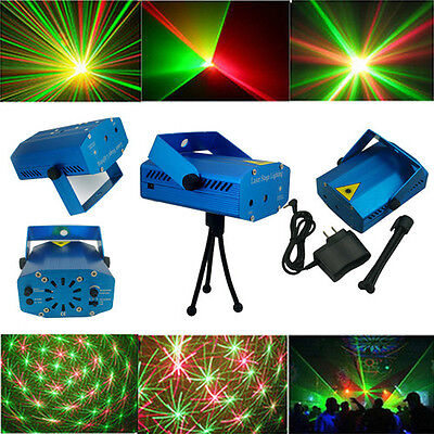 Hot Sell! Mini Projector R&G DJ Disco Light Stage Xmas Party Laser Lighting Show on Rummage