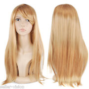 Straight Long Blonde Cosplay Wigs