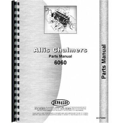 Allis Chalmers 6060 Tractor Parts Manual Ac-p-6060