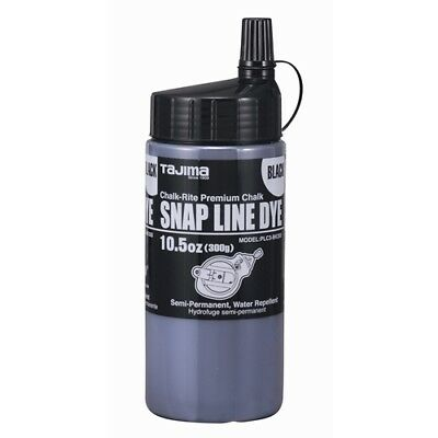 Tajima Plc3-bk300 Chalk-rite Snap-line Dye Black With Easy-fill Nozzle 10.5oz