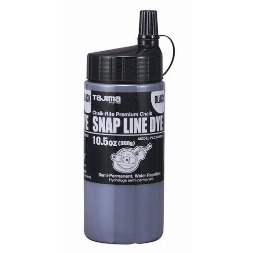 Tajima PLC3-BK300 CHALK-RITE Snap-Line Dye, black, with easy-fill nozzle, 10.5oz