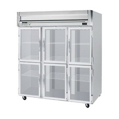 Beverage Air Hfps3hc-5hg Half Glass Door Three-section Reach-in Freezer