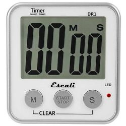 Escali Digital Timer Extra Large LED Display12/24 Hour Clock Mode Recall DR1